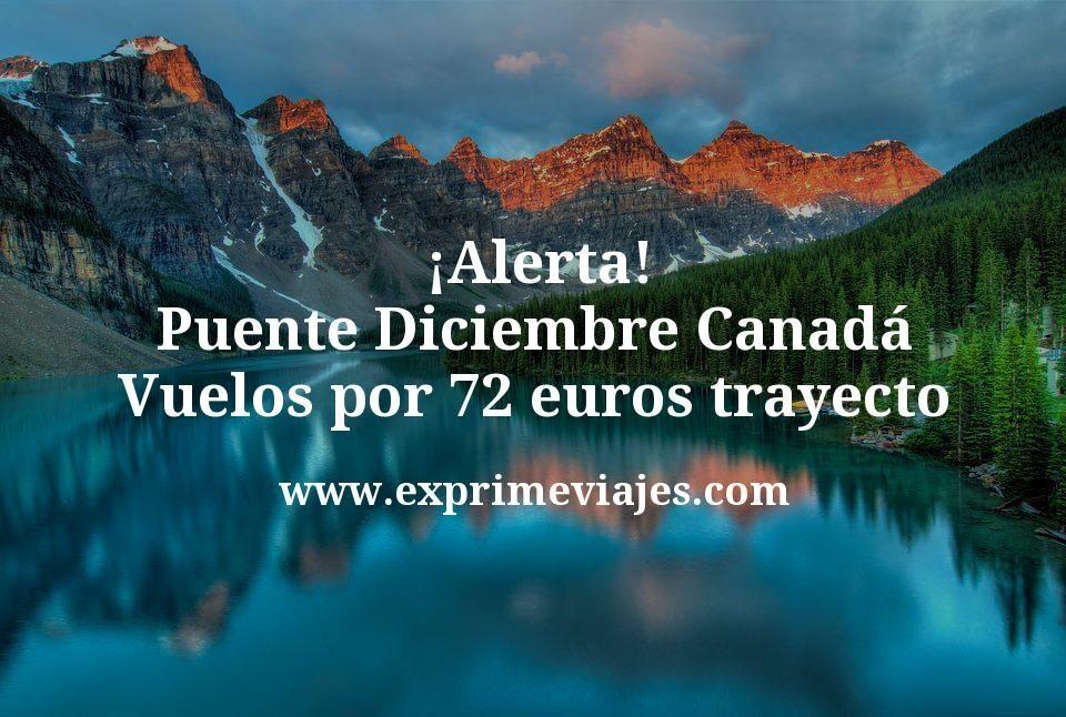 ¡Alerta! Puente Diciembre Canadá: Vuelos por 72euros trayecto