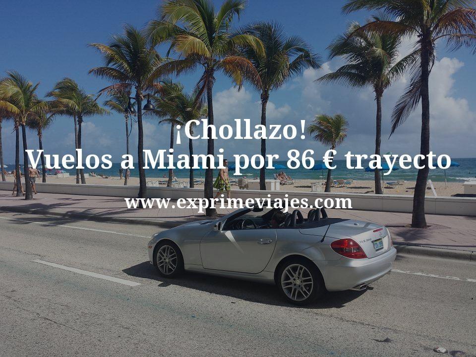 ¡Chollazo! Vuelos a Miami por 86euros trayecto
