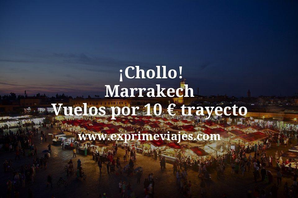 ¡Chollo! Marrakech: Vuelos por 10euros trayecto