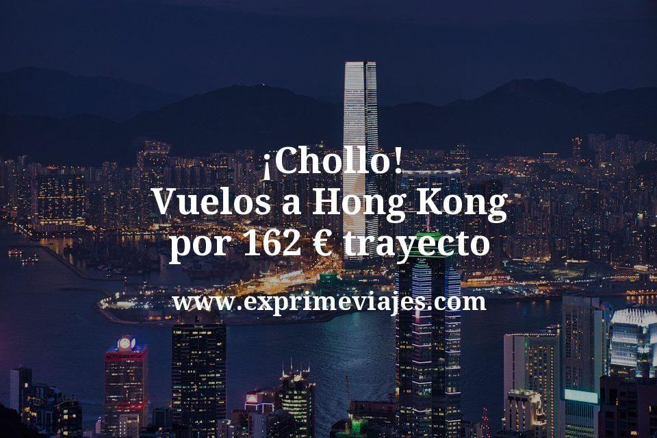 ¡Chollo! Vuelos a Hong Kong desde España por 162€ trayecto