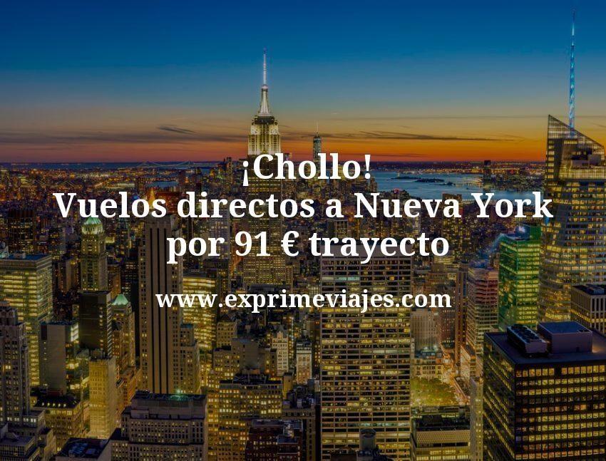 ¡Ganga! Vuelos directos a Nueva York por 91€ trayecto