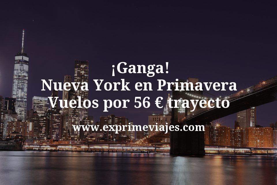 ¡Ganga! Nueva York en Primavera: Vuelos por 56euros trayecto