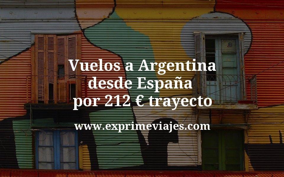 ¡Wow! Vuelos a Argentina desde España por 212euros trayecto