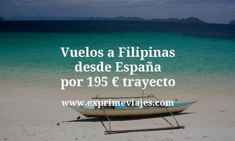 Vuelos a Filipinas desde España por 195euros trayecto