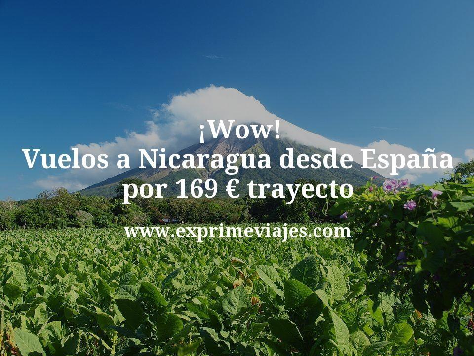 ¡Wow! Vuelos a Nicaragua desde España por 169euros trayecto