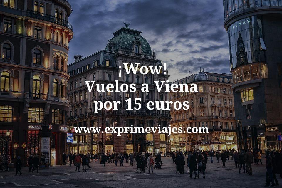 ¡Wow! Vuelos a Viena por 15euros trayecto