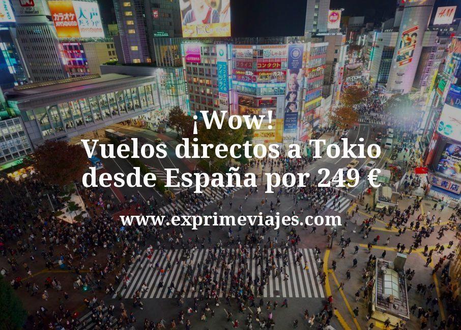 ¡Wow! Vuelos directos a Tokio desde España por 249euros