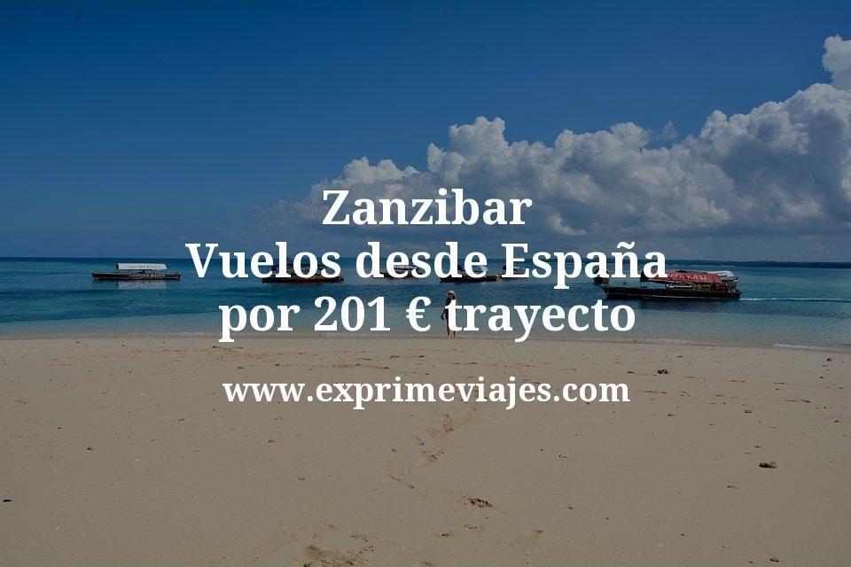 Zanzibar: Vuelos desde España por 201euros trayecto