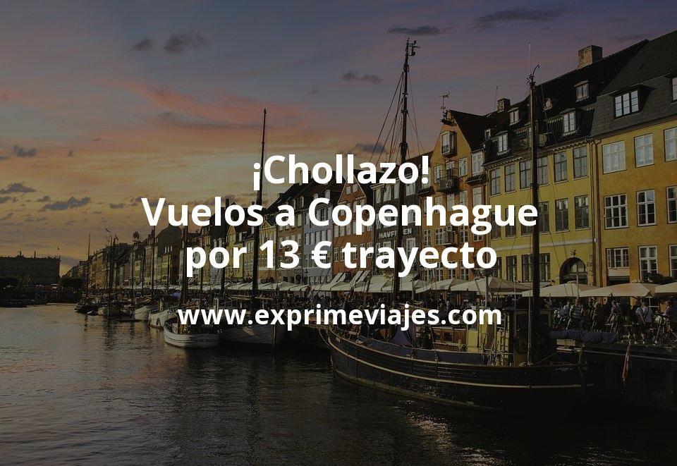 ¡Chollazo! Vuelos a Copenhague por 13euros trayecto