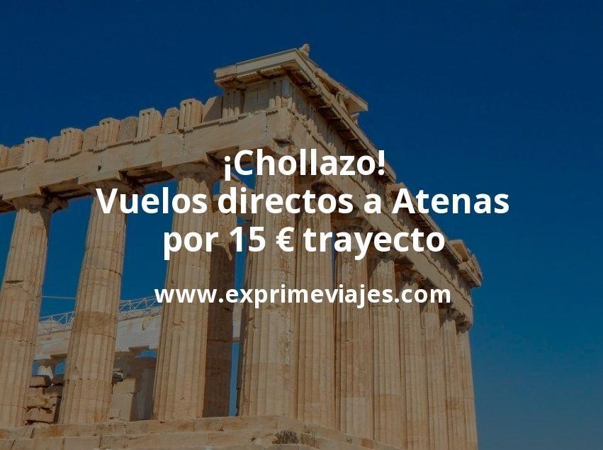 ¡Chollazo! Vuelos directos a Atenas por 15euros trayecto