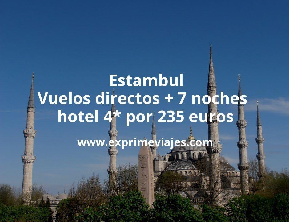 ¡Wow! Estambul: Vuelos directos + 7 noches hotel 4* por 235euros