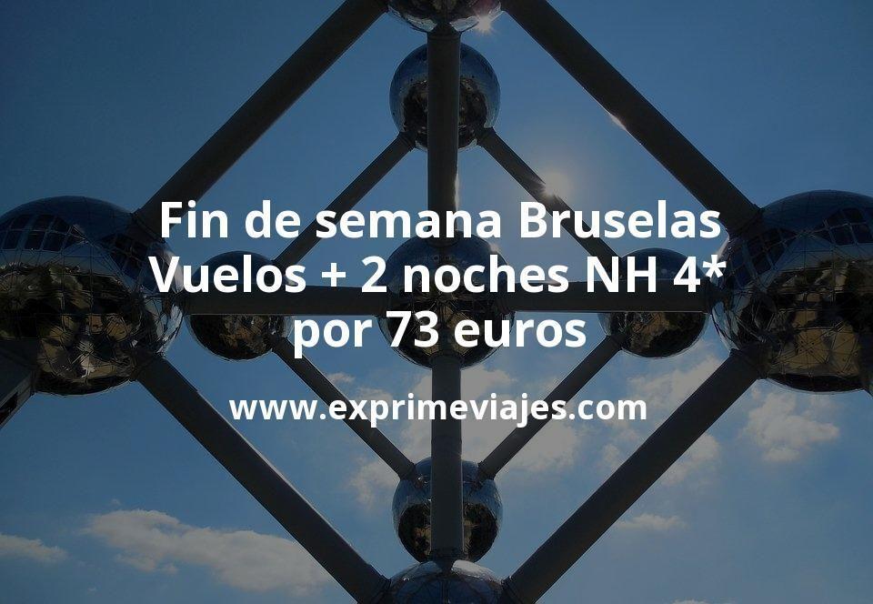 Fin de semana Bruselas: Vuelos + 2 noches NH 4* por 73euros