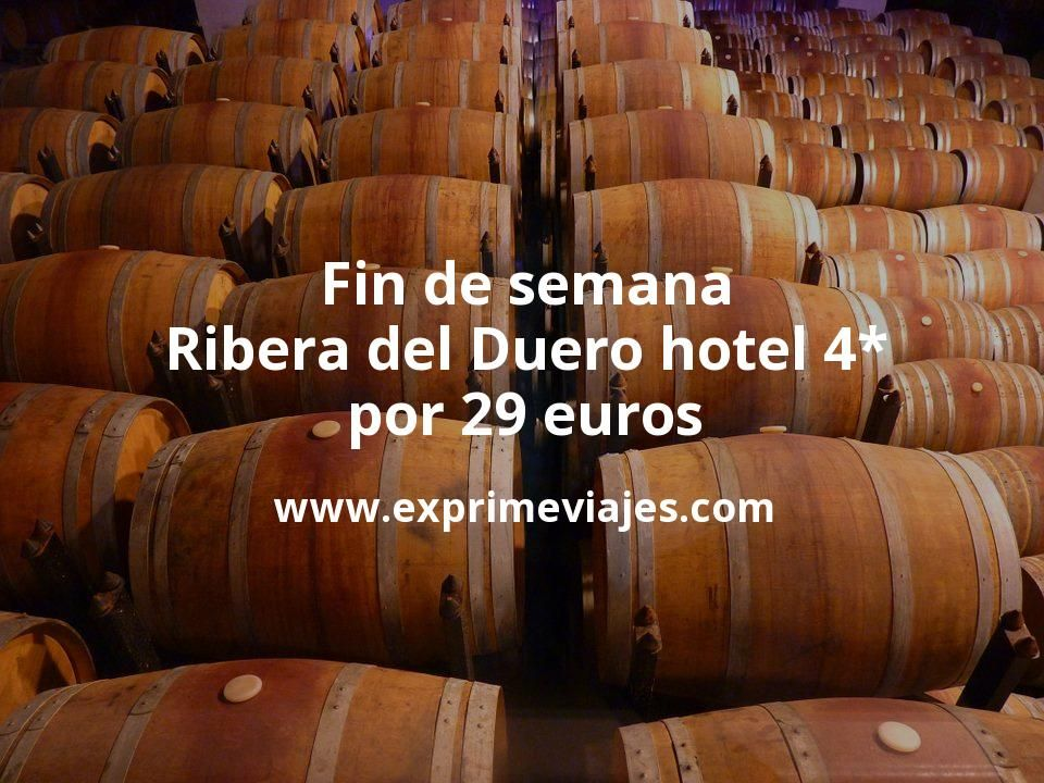 Fin de semana Ribera del Duero: Hotel 4* por 29€ p.p/noche