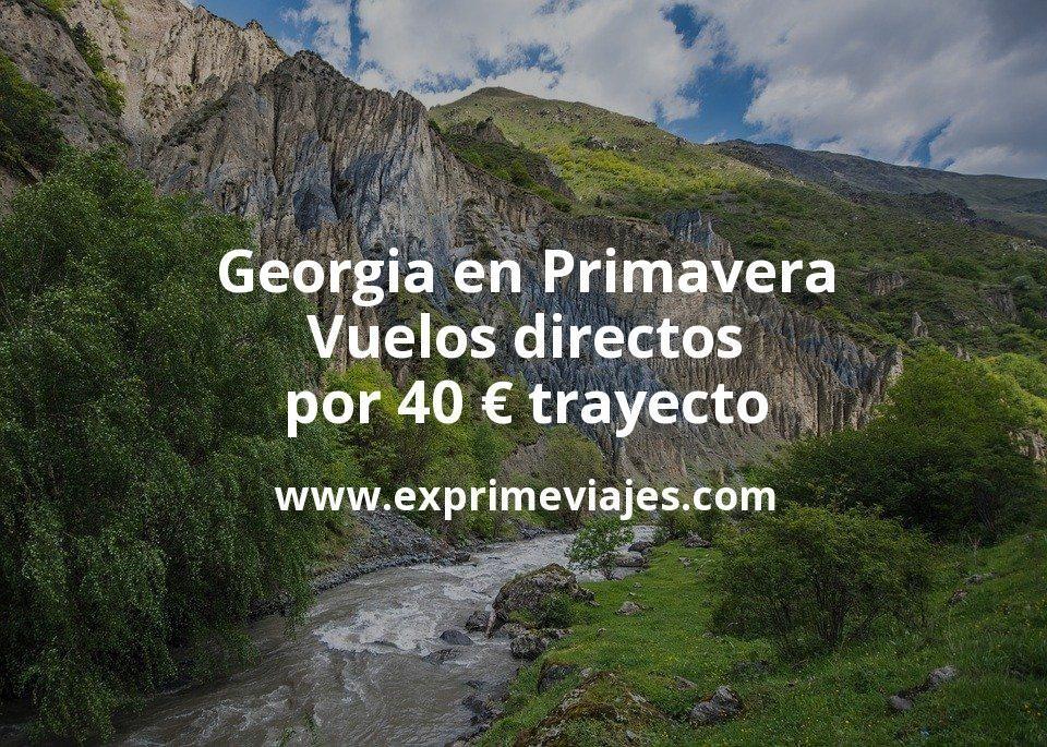Georgia en Primavera: Vuelos directos por 40euros trayecto