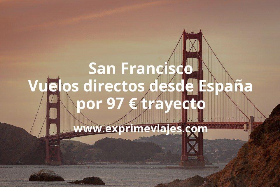 ¡Ganga! San Francisco: Vuelos directos desde España por 97euros trayecto