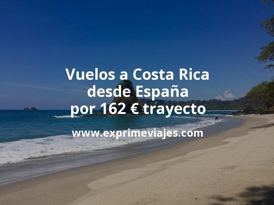 ¡Ganga! Vuelos a Costa Rica desde España por 162€ trayecto