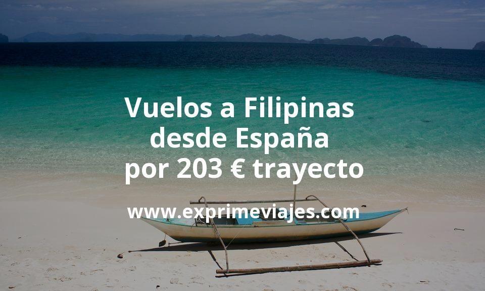 ¡Wow! Vuelos a Filipinas desde España por 203euros trayecto