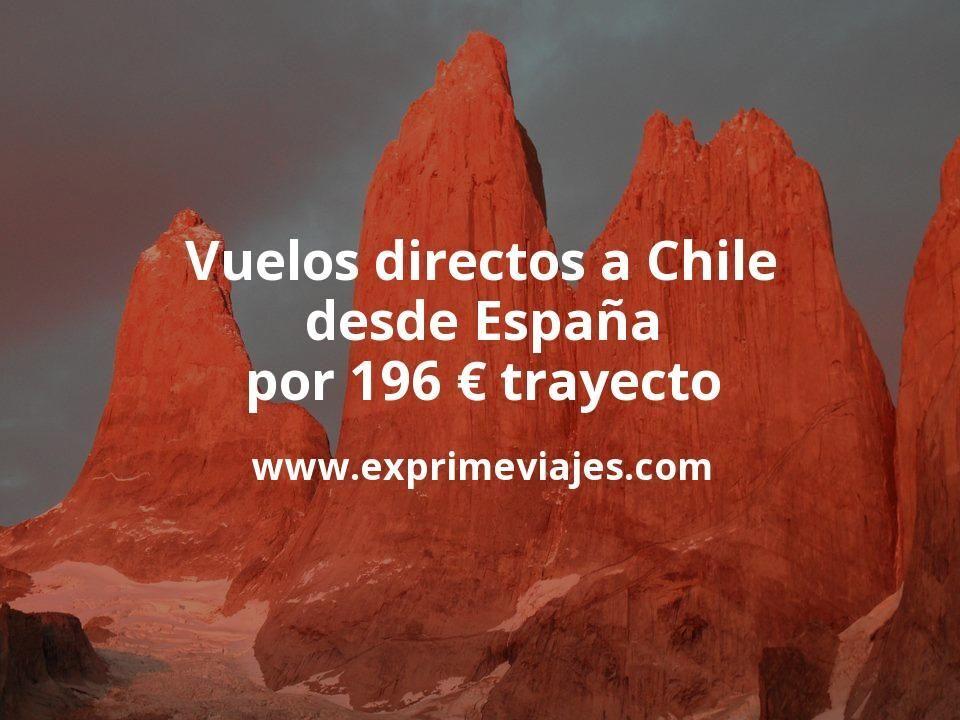 ¡Chollo! Vuelos directos a Chile desde España por 196euros trayecto