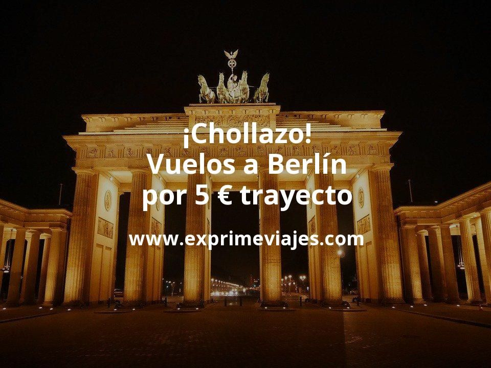 ¡Chollazo! Vuelos a Berlín por 5euros trayecto