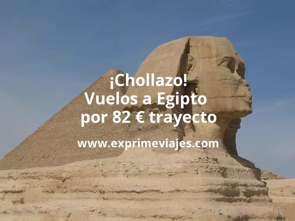 ¡Chollazo! Vuelos a Egipto por 82euros trayecto