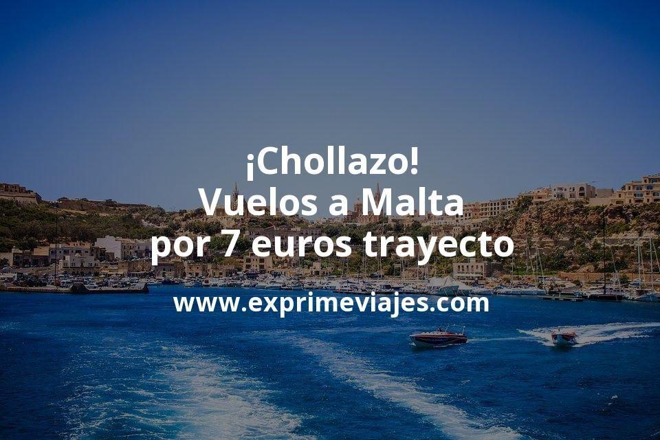 ¡Chollazo! Malta: Vuelos por 7euros trayecto