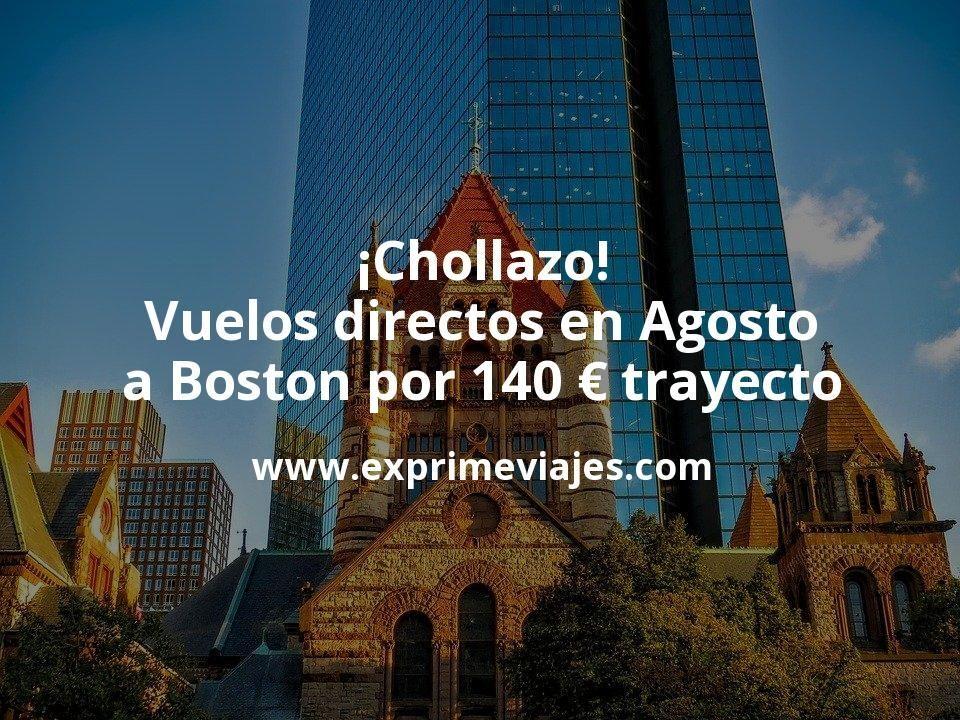 ¡Chollazo! Vuelos directos en Agosto a Boston por 140euros trayecto