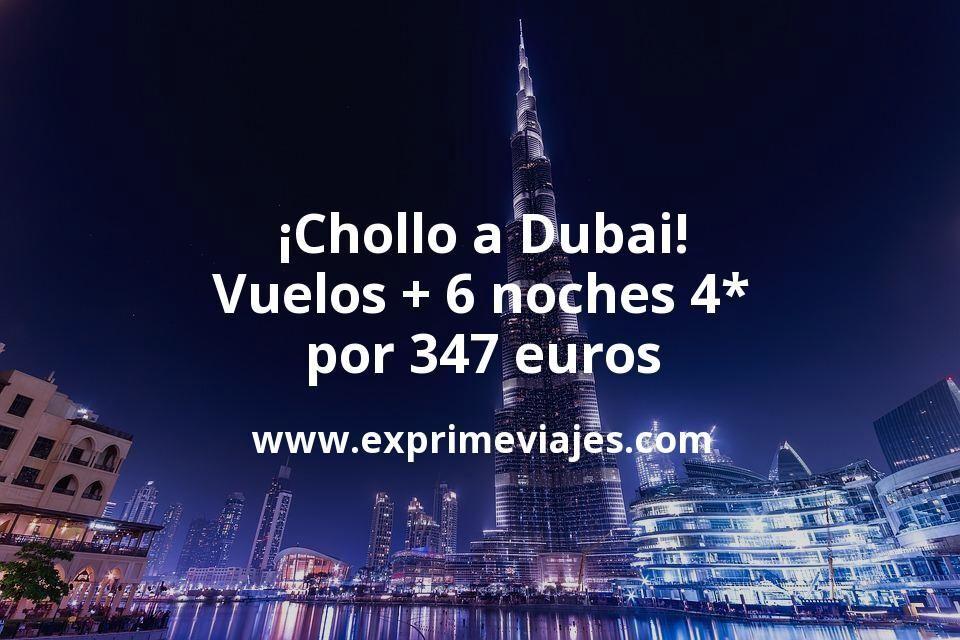 ¡Chollo a Dubai! Vuelos + 6 noches por 347euros