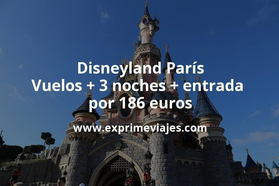 Disneyland París: Vuelos + 3 noches + entrada por 186euros