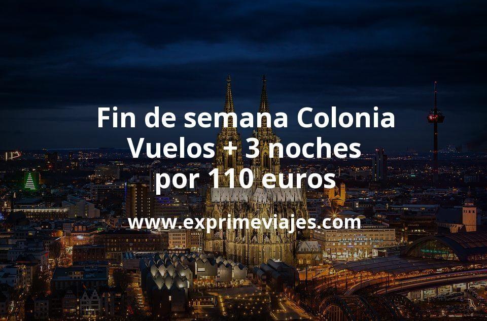 Fin de semana Colonia: Vuelos + 3 noches por 110euros