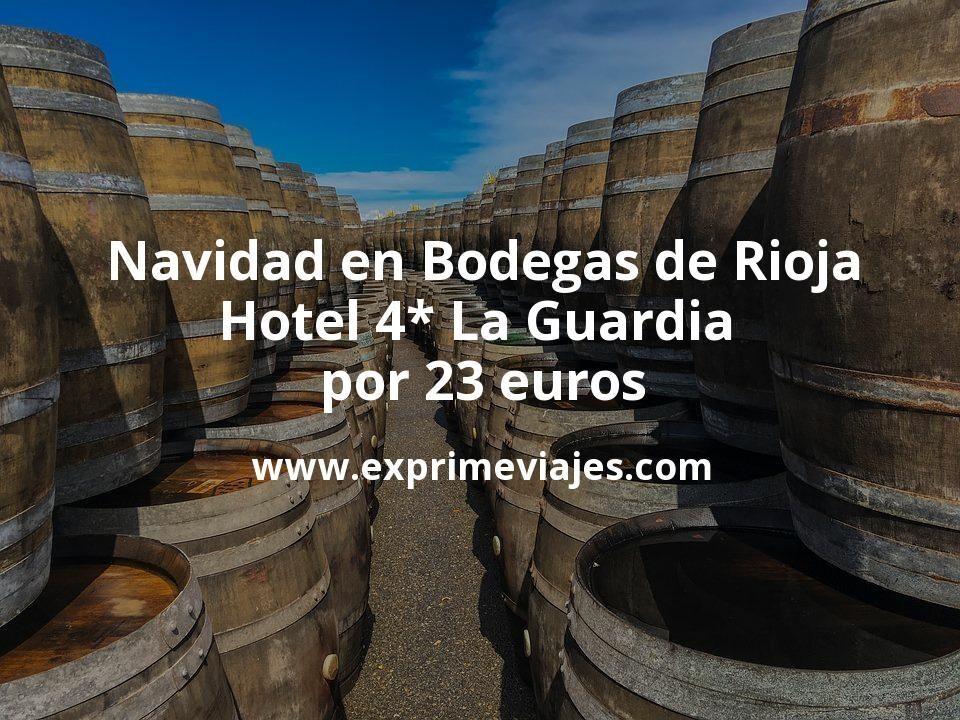 Navidad en Bodegas de Rioja: Hotel 4* La Guardia por 23€ p.p/noche