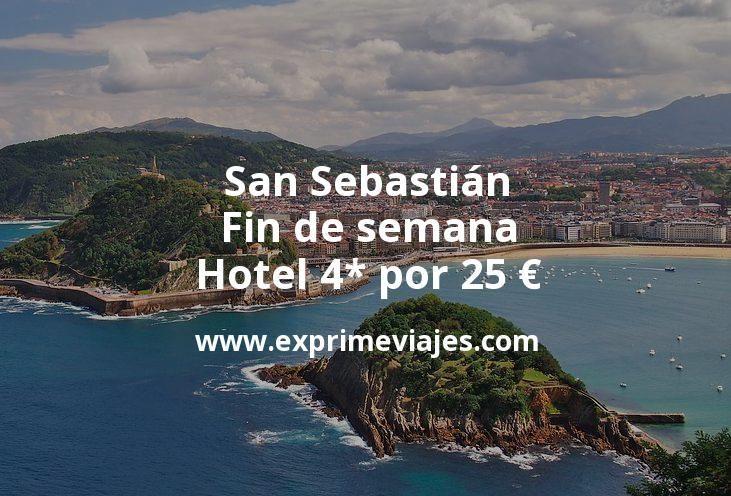 San Sebastián fin de semana: Hotel 4* por 25euros