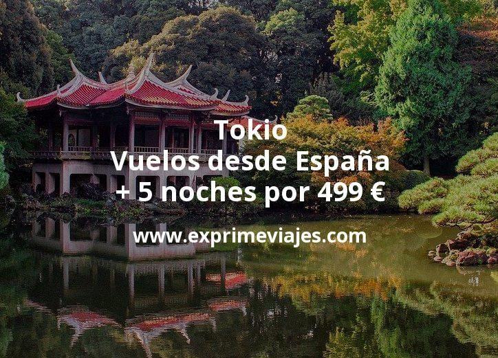 ¡Wow! Tokio: Vuelos desde España + 5 noches por 499euros