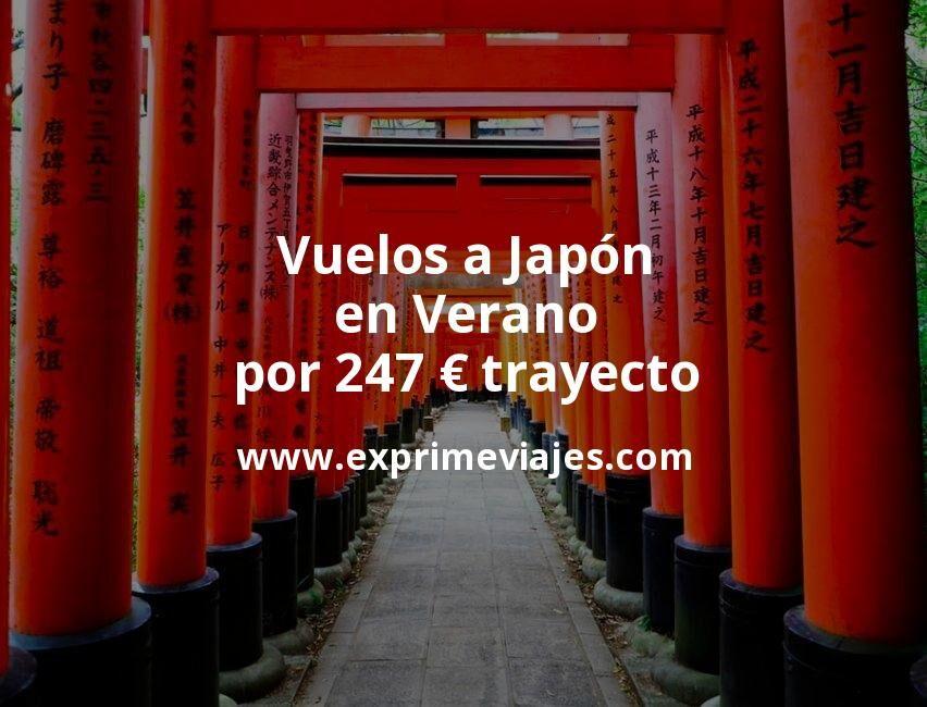 Vuelos a Japón en Verano por 247euros trayecto