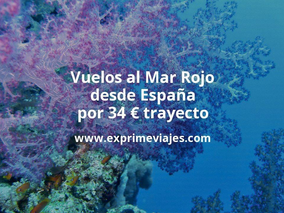 ¡Chollo! Vuelos al Mar Rojo desde España por 34euros trayecto