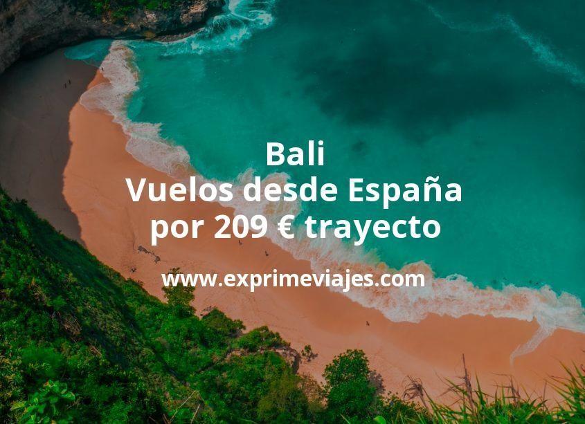 ¡Wow! Bali: Vuelos desde España por 209euros trayecto