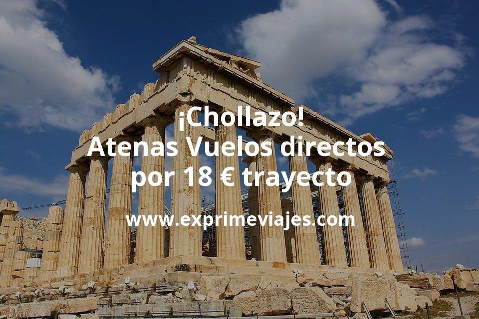 ¡Chollazo! Atenas: Vuelos directos por 18euros trayecto