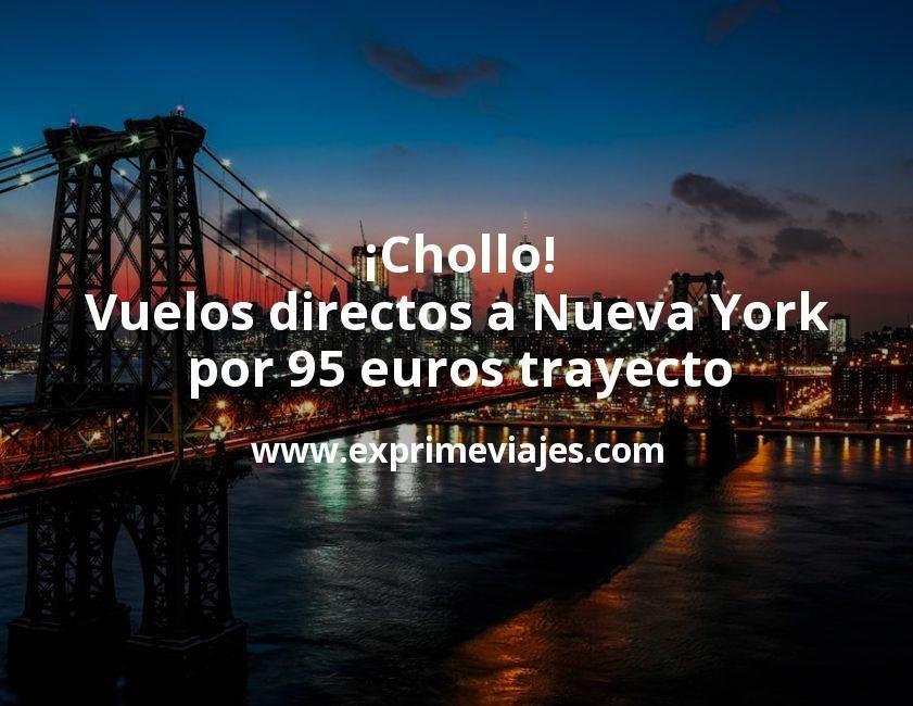 ¡Chollo! Vuelos directos a Nueva York por 95euros trayecto