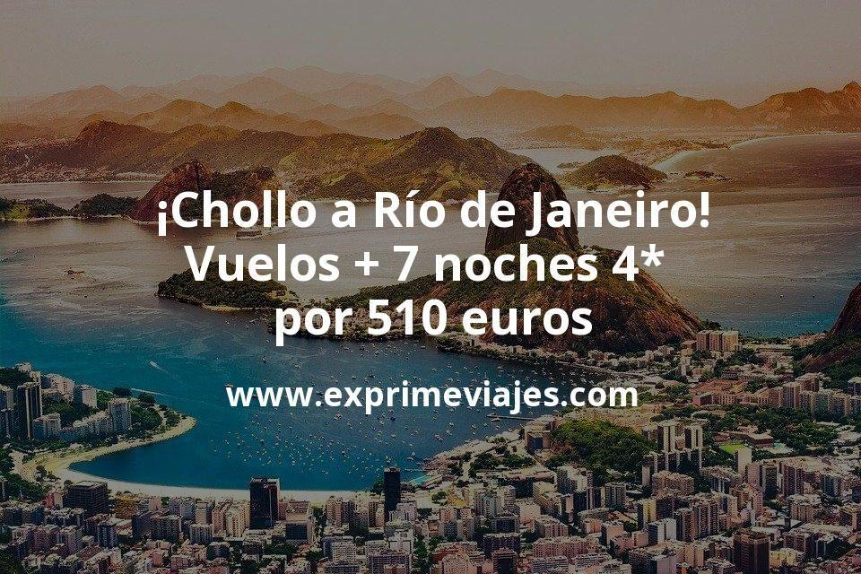 ¡Chollo a Río de Janeiro! Vuelos + 7 noches 4* por 510euros
