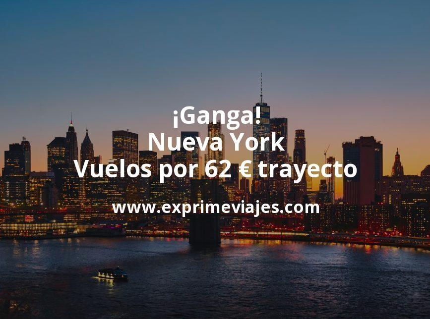 ¡Ganga! Nueva York: Vuelos por 62euros trayecto