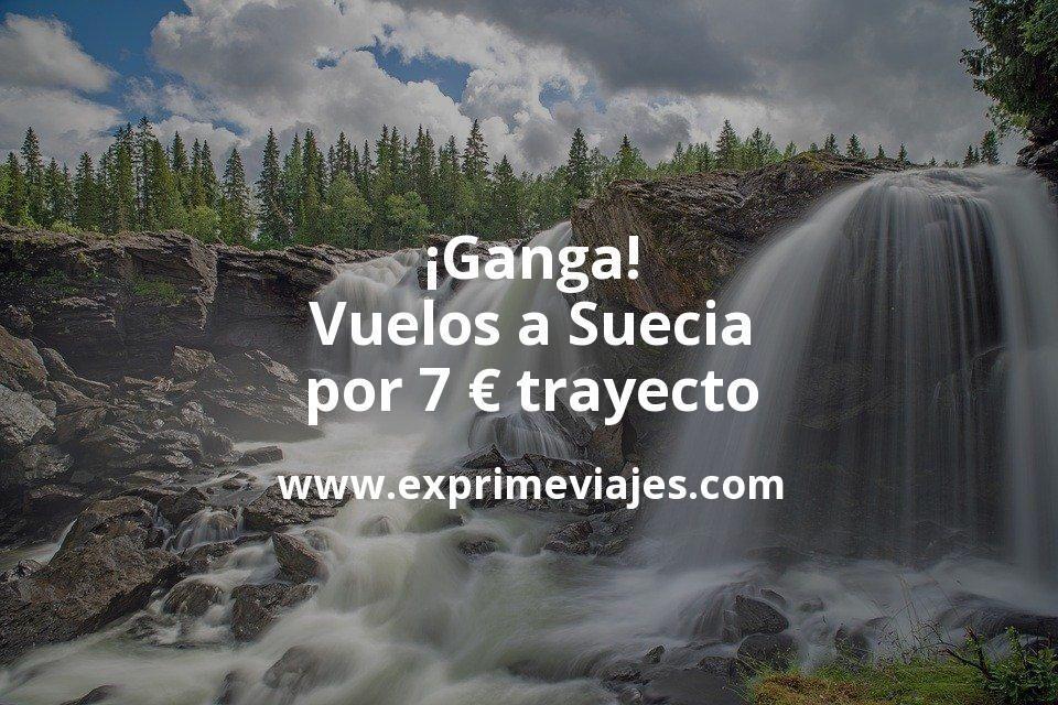 ¡Ganga! Vuelos a Suecia por 7euros trayecto