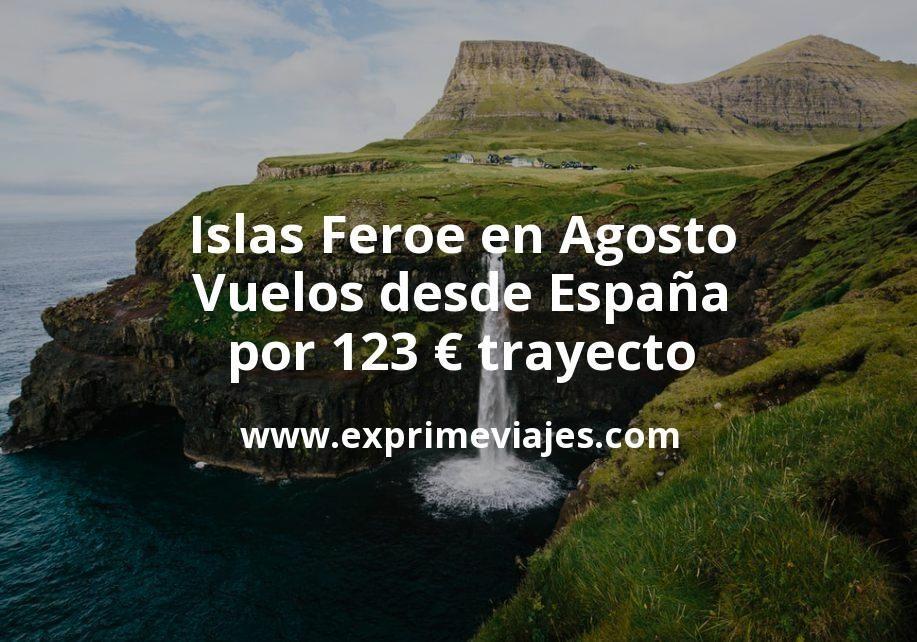 ¡Wow! Islas Feroe en Agosto: Vuelos desde España por 123euros trayecto