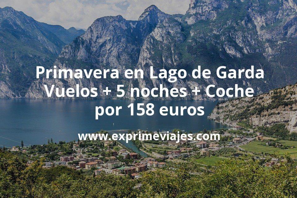 Primavera en Lago de Garda (Italia): Vuelos + 5 noches + Coche por 158euros