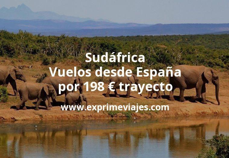 ¡Wow! Sudáfrica: Vuelos desde España por 198euros trayecto