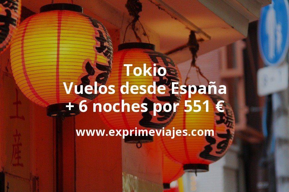 Tokio: Vuelos desde España + 6 noches por 551euros