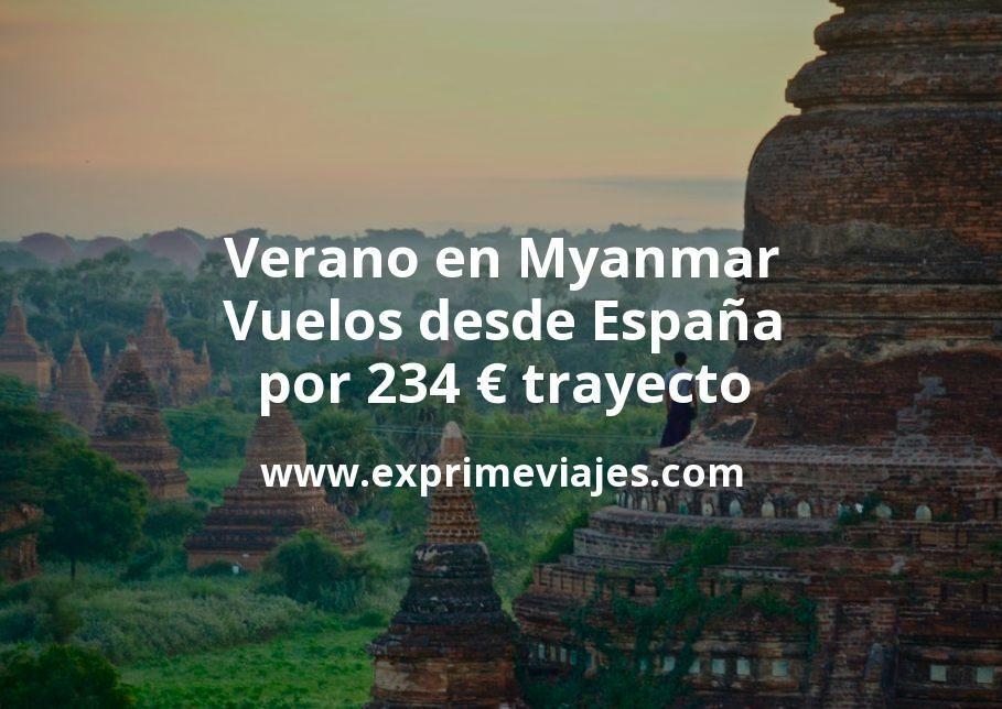 ¡Wow! Verano en Myanmar: Vuelos desde España por 234euros trayecto