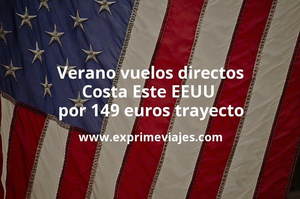 ¡Chollazo! Vuelos directos a Costa Este de EEUU en Verano por 149euros trayecto
