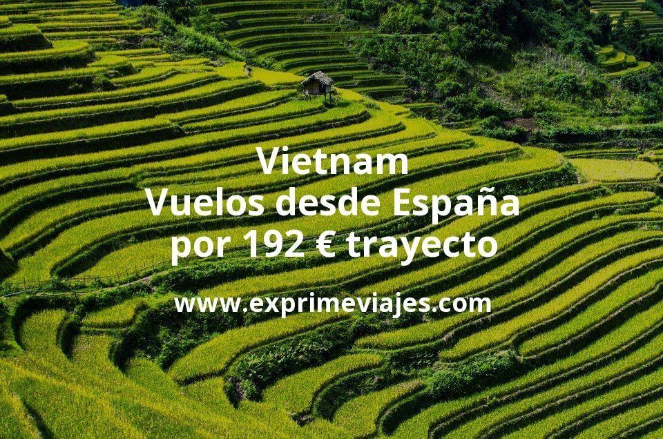 ¡Wow! Vietnam: Vuelos desde España por 192euros trayecto