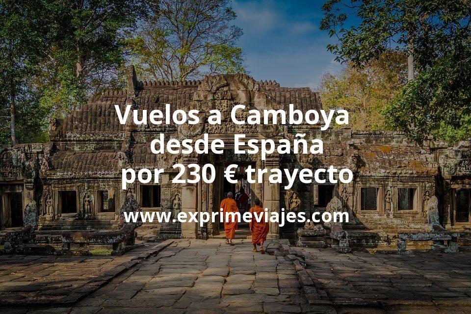 ¡Wow! Vuelos a Camboya desde España por 230euros trayecto