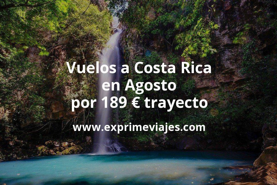 ¡Chollazo! Vuelos a Costa Rica en Agosto por 189euros trayecto