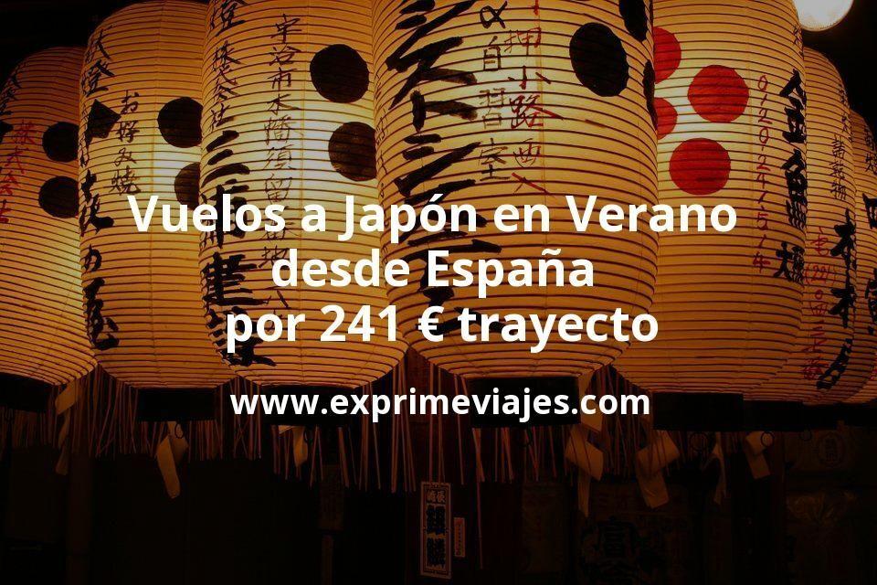 ¡Wow! Vuelos a Japón en Verano por 241euros trayecto